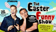 Easter Funny Poster featuring Tam Ryan and John Thomson