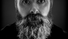 Man with a Beard black and white portrait
