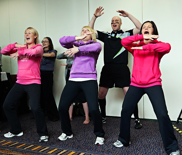 Rowlands Pharmacy staff do the haka at staff conference