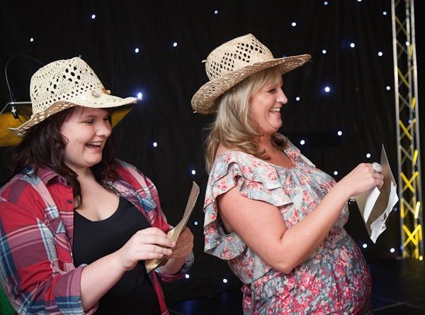women dressed as cowgirls in fancy dress
