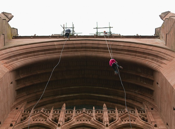 abseiling liverpool cathedral