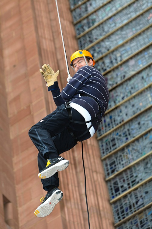 kenny black abseil liverpool cathedral nspcc