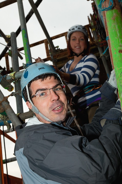 neil stewart abseil liverpool cathedral for NSPCC