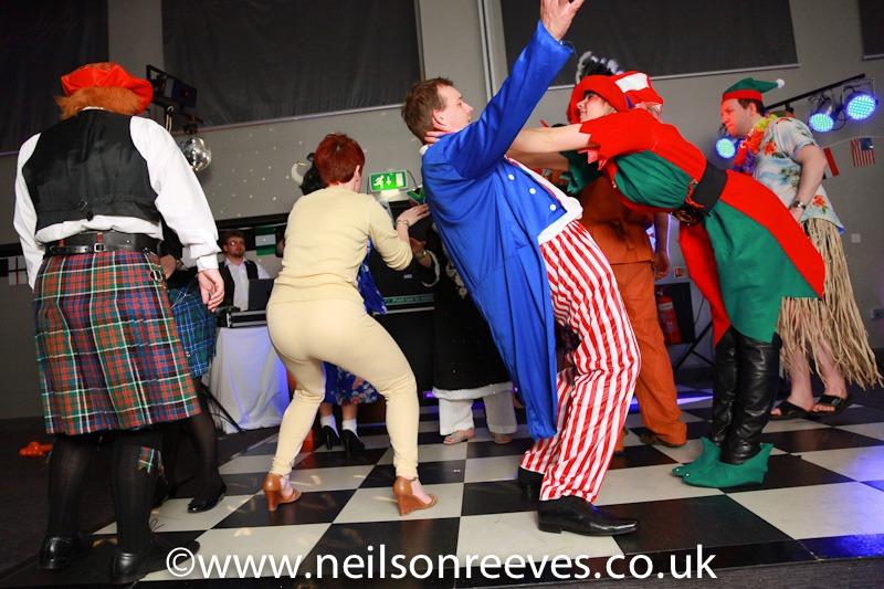 people dancing crown plazza manchester in fancy dress