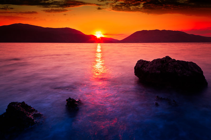 Sunset over Kefalonia
