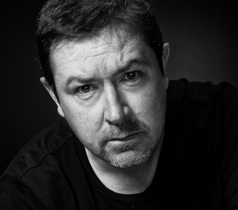 Daniel Ryan black and white moody portrait