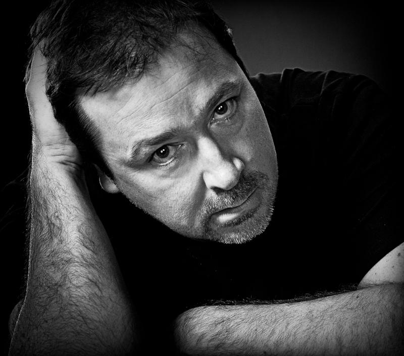 Daniel Ryan low black and white portrait