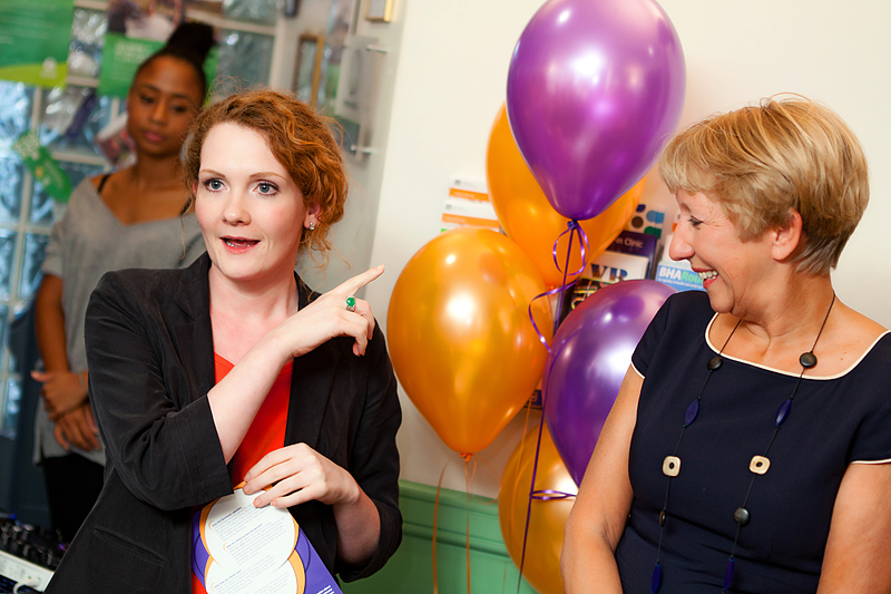 Jennie Mcalpine opening the sanctuary manchester