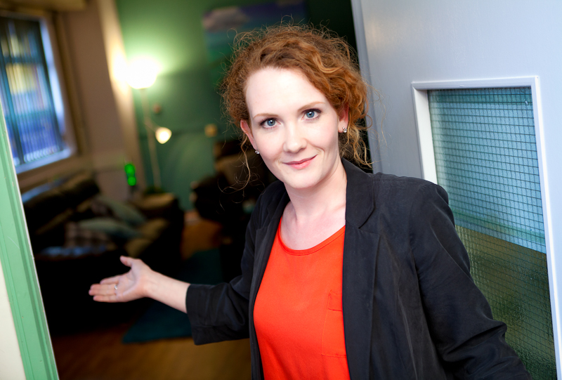 Jennie McAlpine opening the Sanctuary moss side manchester
