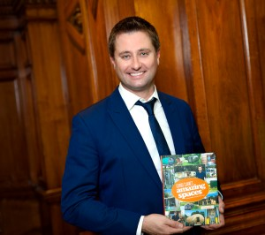 George Clarke portrait with his new book amazing spaces