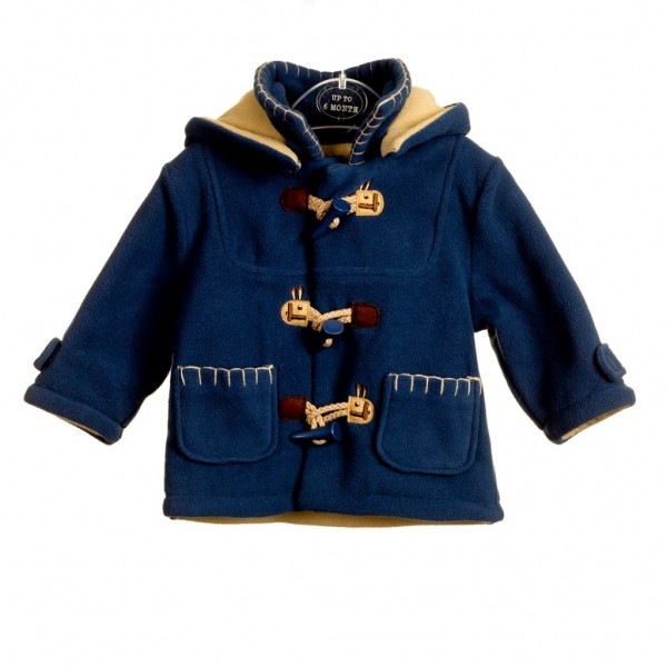 Product photography white background blue children's coat