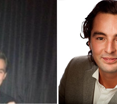 Before and after linkedin profile picture