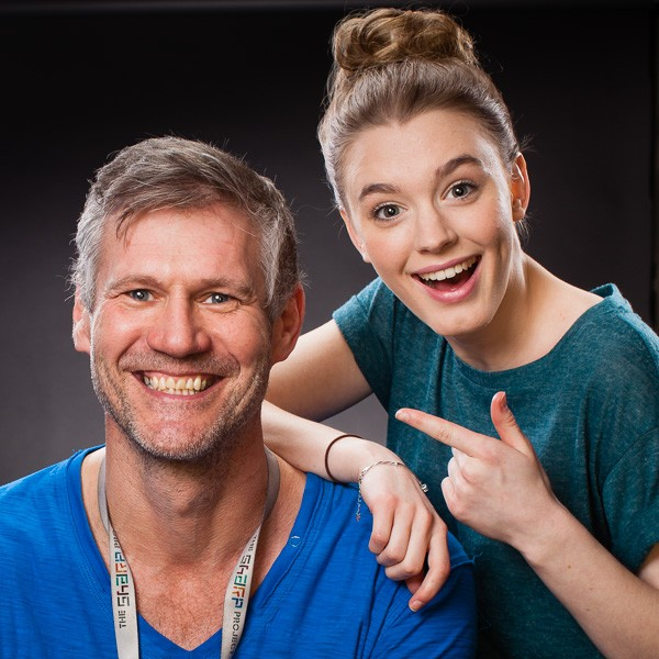Amy Kelly and Colin Boulter photographed together after the shoot