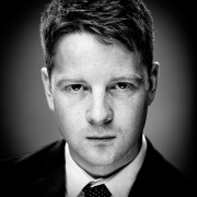 Actor headshot featuring dale gerrard in black and white