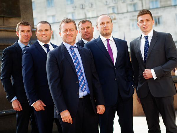 Business men group shot