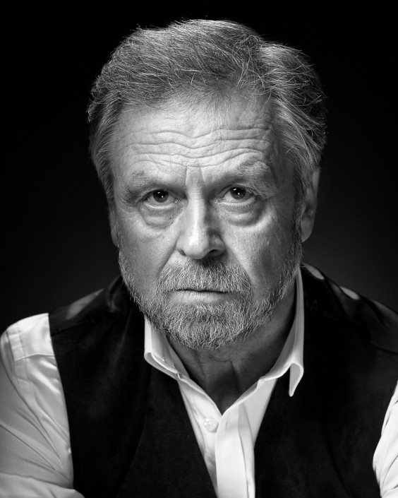 Russell Richards Gritty black and white potrait