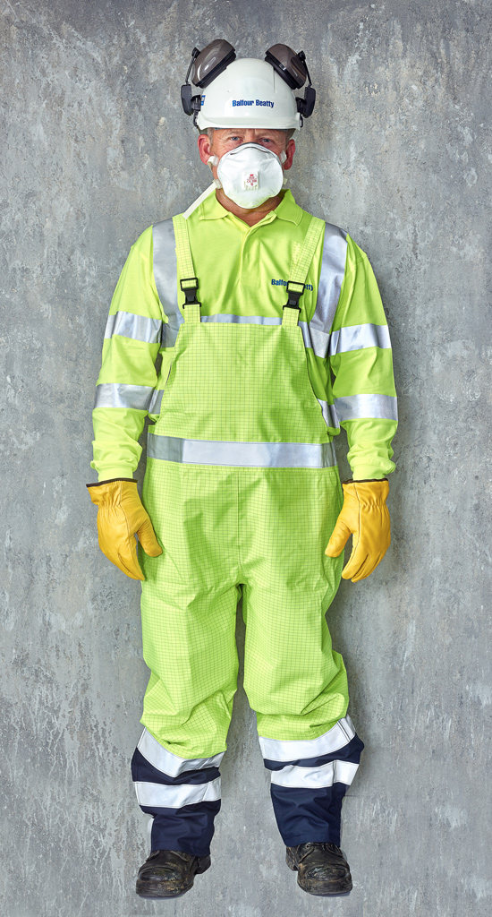 portraits of people in personal protective equipment balfour beatty