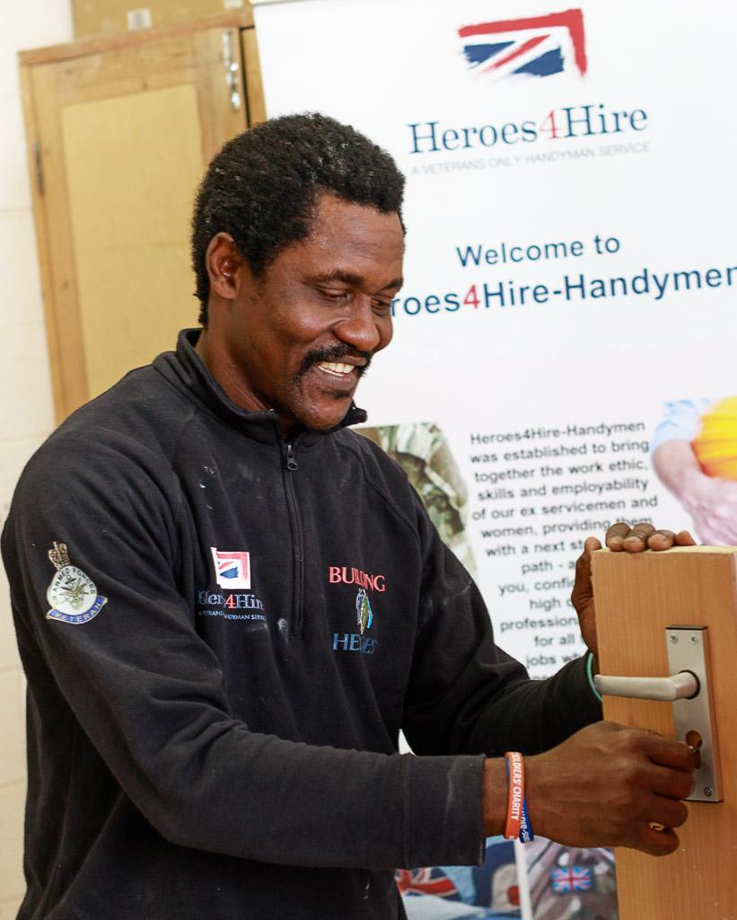 Public Relations photography Heroes 4 Hire veteran handyman