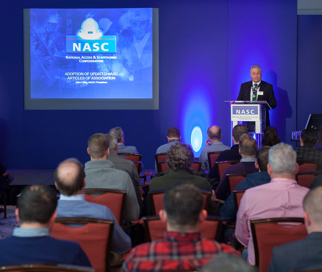 Alan Lillie presenting to board members at NASC AGM